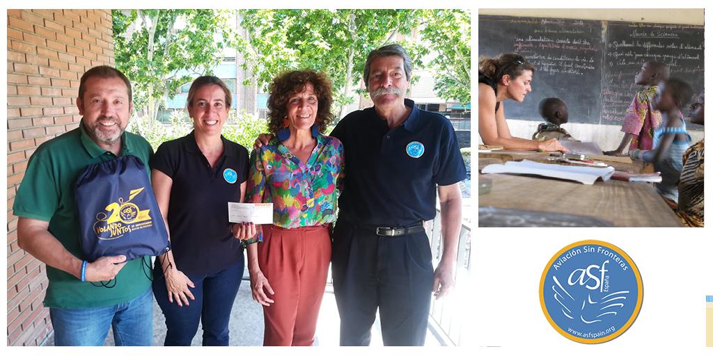 Acto de entrega de la Ayuda 2019 a AVIACIÓN SIN FRONTERAS