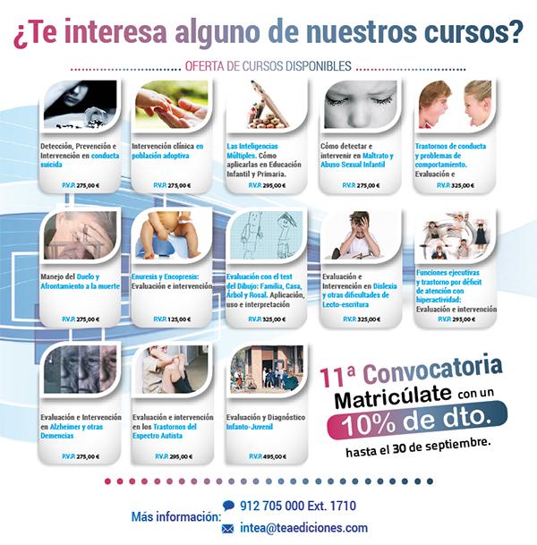 Nueva convocatoria de cursos online inTEA