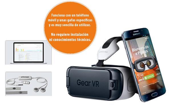 teléfono móvil y unas gafas específicas realidad virtual