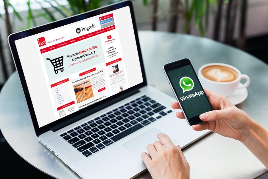 Queremos facilitarte la comunicación con TEA y ahora también os atendemos por WhatsApp